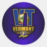 Vermont (VT) Pegatina Redonda