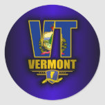 Vermont (VT) Pegatinas Redondas