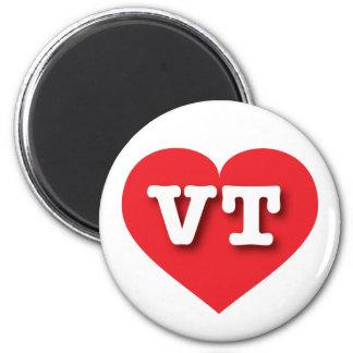 Vermont VT red heart 2 Inch Round Magnet