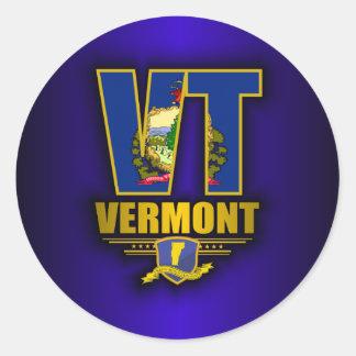 Vermont (VT) Classic Round Sticker