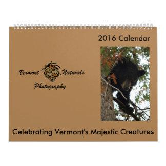 Vermont Wildlife Calendar