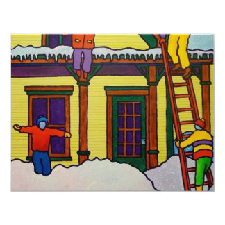 Vermont Winter Sport by Piliero 4.25x5.5 Paper Invitation Card