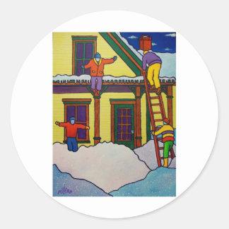 Vermont Winter Sport by Piliero Round Stickers