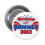 Vermont with Romney 2012 2 Inch Round Button