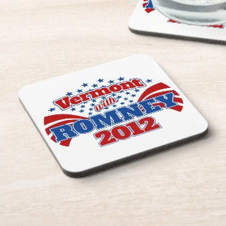 Vermont with Romney 2012 Beverage Coasters