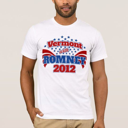 Vermont with Romney 2012 T-Shirt