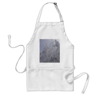 Vermont Woods In Winter Adult Apron