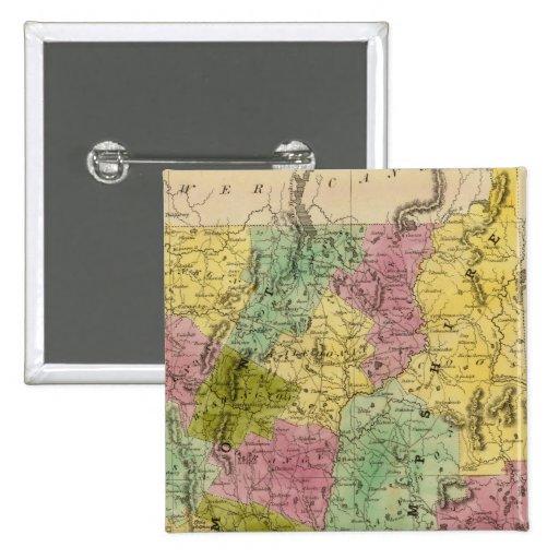 Vermont y New Hampshire Pin Cuadrado