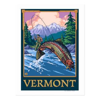 VermontAngler Fisherman Scene Postcard