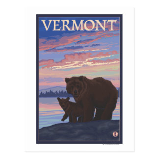 VermontBear and Cub Postcard