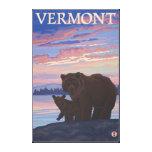 VermontBear y Cub Impresiones En Lona
