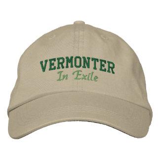 Vermonter en exilio gorra de beisbol bordada