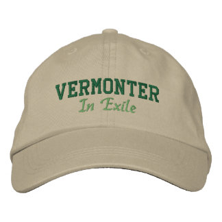 Vermonter In Exile Embroidered Baseball Caps