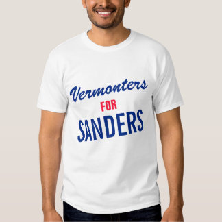 VERMONTERS FOR SANDERS - TEMPLATE TEXT DESIGN T SHIRTS