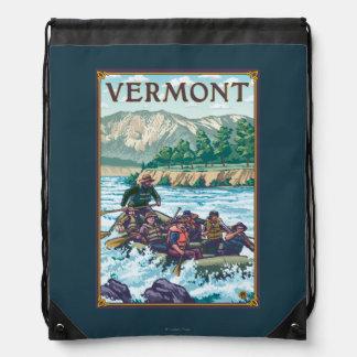 VermontRiver Rafting Scene Drawstring Bag