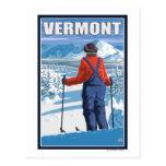 VermontSkier Admiring View Postcard