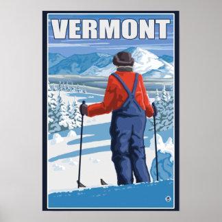VermontSkier Admiring View Poster