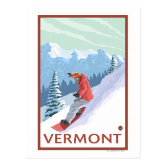 VermontSnowboarder Scene Postcard