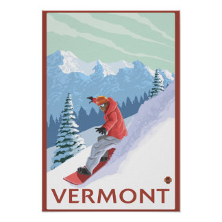 VermontSnowboarder Scene Poster