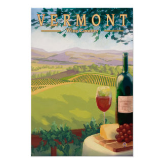 VermontWine Country Scene Poster