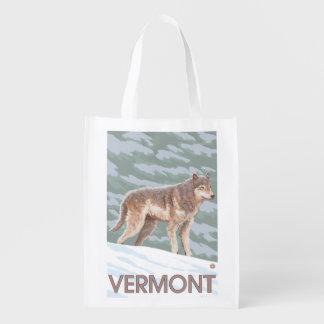 VermontWolf Scene Grocery Bag
