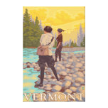 VermontWomen Fly Fishing Scene Gallery Wrapped Canvas