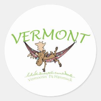 Vermoosin Da Hammuck Vermont Moose Classic Round Sticker