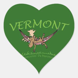 Vermoosin Da Hammuck Vermont Moose Heart Sticker