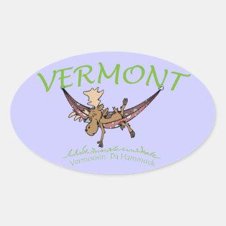 Vermoosin Da Hammuck Vermont Moose Oval Sticker