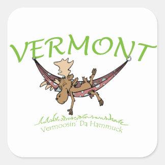 Vermoosin Da Hammuck Vermont Moose Square Sticker