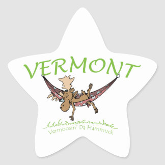 Vermoosin Da Hammuck Vermont Moose Star Sticker