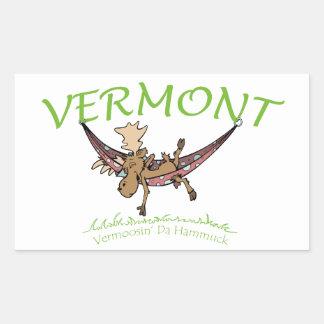 Vermoosin Da Hammuck Vermont Moose Rectangular Sticker