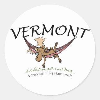 Vermoosin' Da Hammuck Vermont moose Sticker