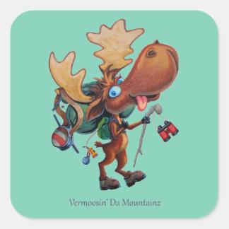 Vermoosin' Da Mountainz Square Sticker