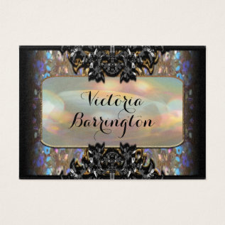 """Vermothe Sombey 3.5"""" Pearl Professional Business Card at Zazzle"""