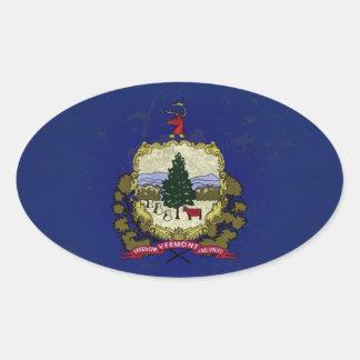 VERMOUNT FLAG OVAL STICKER