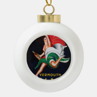 Vermouth Bellardi Torino Ceramic Ball Christmas Ornament