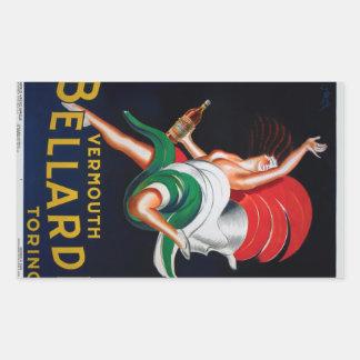 Vermouth Bellardi Torino Rectangular Sticker