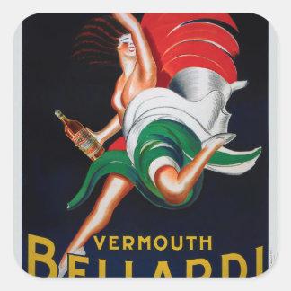 Vermouth Bellardi Torino Square Sticker