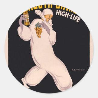 Vermouth Bianco, high-life, Isolabella Classic Round Sticker