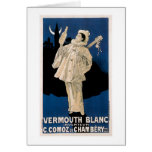 Vermouth Blanc Vintage Drink Ad Art Greeting Cards