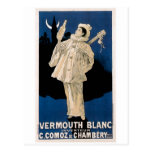 Vermouth Blanc Vintage Drink Ad Art Post Cards