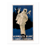 Vermouth Blanc Vintage Drink Ad Art Postcards