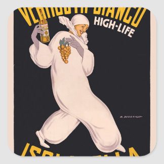 Vermú Bianco, alto-vida, Isolabella Pegatina Cuadrada