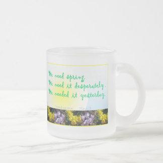 Vernal Equinox Frosted Glass Coffee Mug