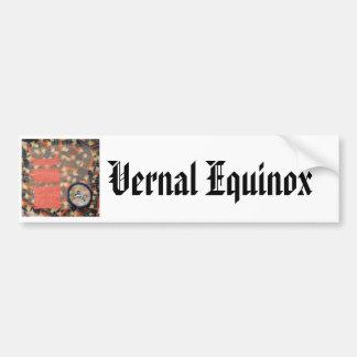 Vernal Equinox Hare - collage Car Bumper Sticker