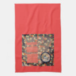 Vernal Equinox Hare - collage Hand Towel