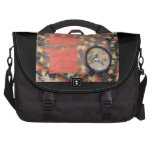 Vernal Equinox Hare - collage Laptop Messenger Bag