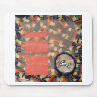 Vernal Equinox Hare - collage Mouse Pad