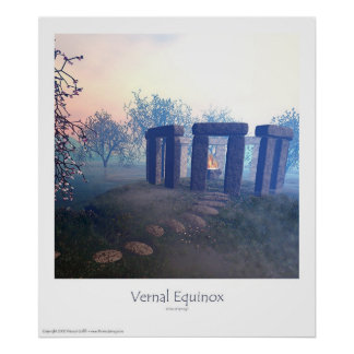 vernal equinox - rites of spring poster